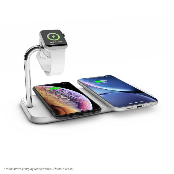 Zens Aluminium Dual Wireless Charger + Apple Watch 10W