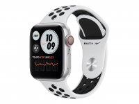 Apple Watch Nike Series 6, GPS + Cellular, 40 mm Aluminiumgehäuse Silber, Nike Sportarmband