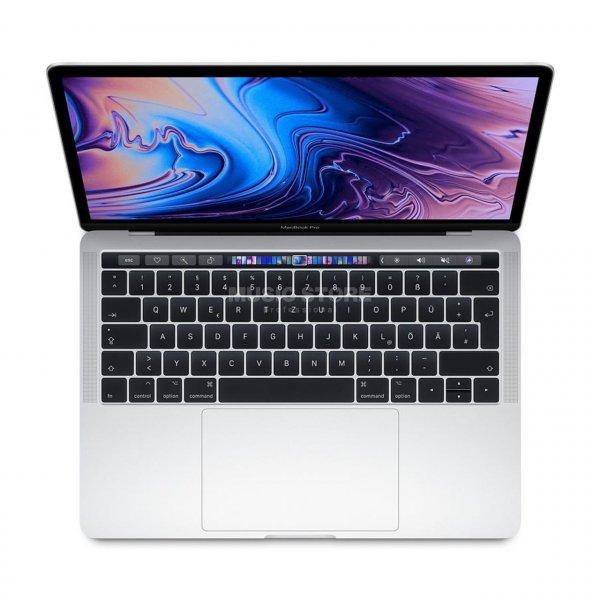 "Apple MacBook Pro 13"" 2019, 2.4 GHz i5, 8 GB, 256 GB SSD, Touch Bar und Touch ID, Silber"