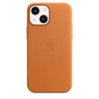 Apple iPhone 13 mini Leder Case Goldbraun