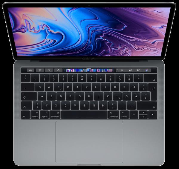 """Apple MacBook Pro 13"""" (2020), 1.4 GHz i5, 8 GB, 256 GB SSD, Touch Bar und Touch ID, Deutsch, Space G"""