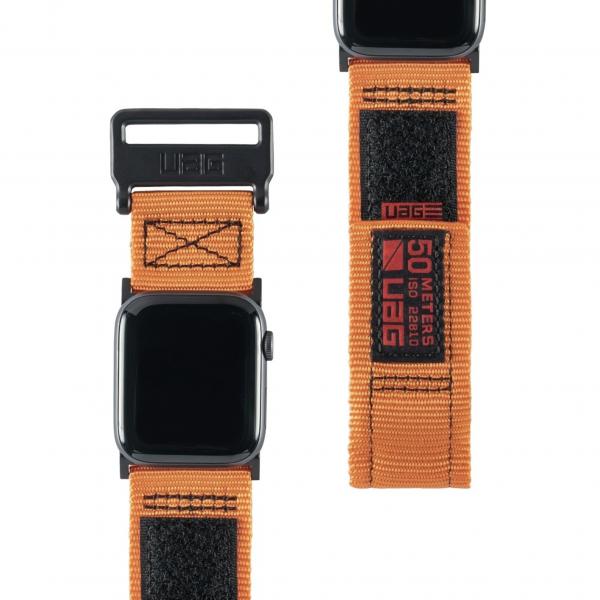 UAG Urban Armor Gear Active Nylon Armband, für Apple Watch 42/44 mm, Orange