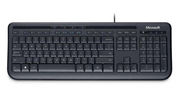 Microsoft Wired Keyboard 600, schwarz