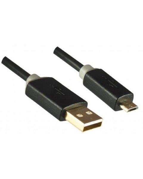 Dinic USB A/Mini USB B 2m 2m USB A Mini-USB B Männlich Männlich Schwarz USB Kabel
