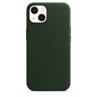 Apple iPhone 13 Leder Case Schwarzgrün