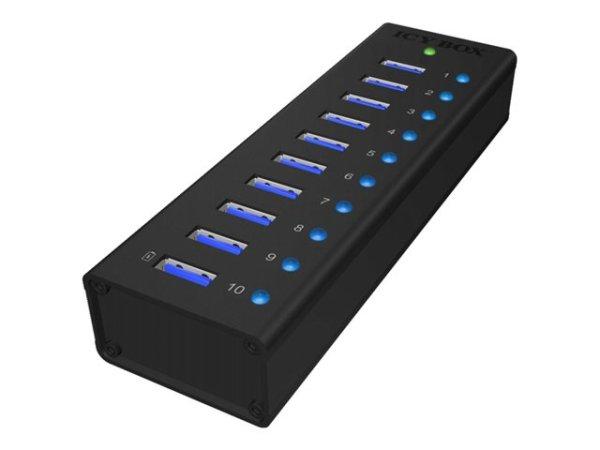 RaidSonic ICY BOX IB-AC6110, 10 x SuperSpeed USB 3.0, Desktop