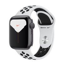 Apple Nike Sportarmband Pure Platinum/Schwarz