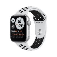 Apple Watch Nike Sportarmband, 42/44 mm, Pure Platinum/Schwarz
