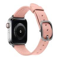 Devia Lederarmband für Apple Watch 42/44 mm Rosa