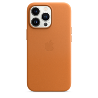 Apple iPhone 13 Pro Leder Case Goldbraun