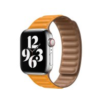 Apple Lederarmband mit Endstück California Poppy