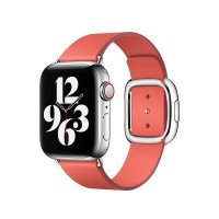 Apple Modernes Lederarmband Zitruspink