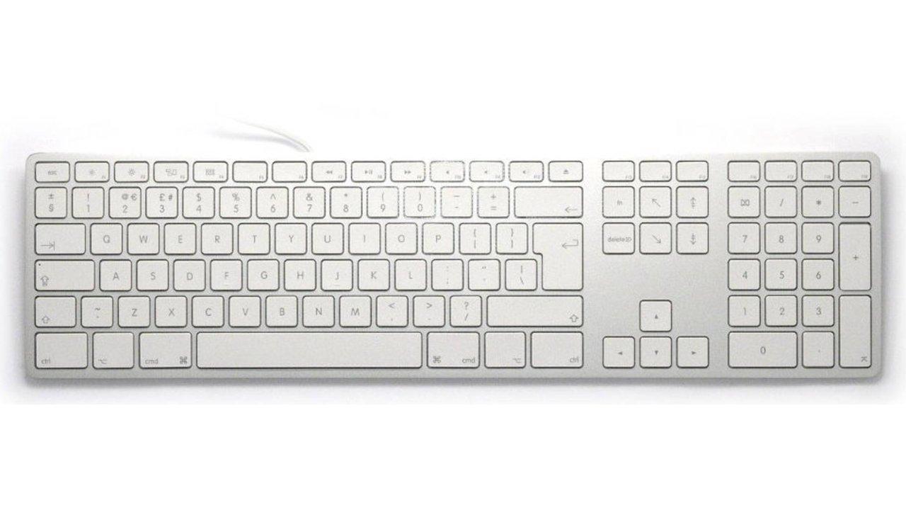 Matias Aluminum USB Tastatur mit Ziffernblock FK318S