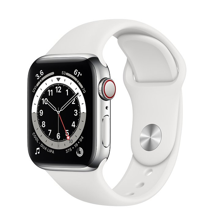 Apple Watch Series 6 40 mm Sportarmband Weiß M06T3FD/A