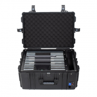 LAURIDO Transportkoffer für 12 Chromebooks, Notebooks oder Laptops inkl. Lademodul