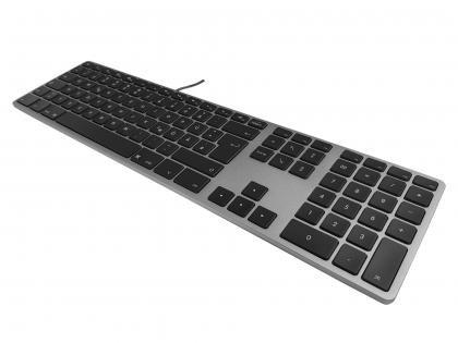 Matias Aluminum USB Tastatur Space Grau FK318B-DE