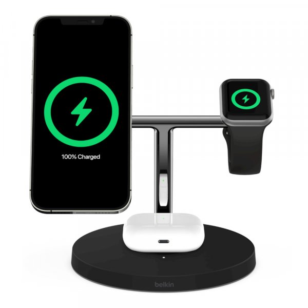 Belkin BOOST CHARGE PRO 3-in-1 QI Charger mit MagSafe