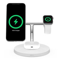 Belkin BOOST CHARGE PRO 3-in-1 QI Charger mit MagSafe Weiß