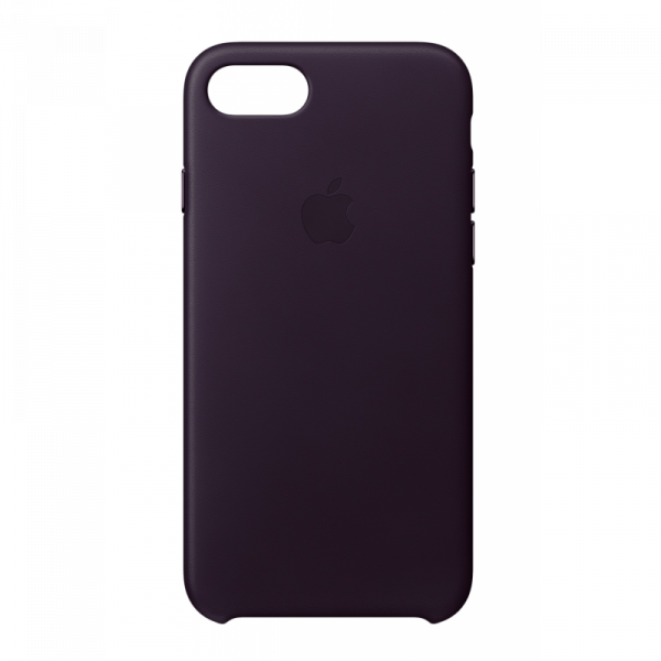 Apple iPhone Leder Case, für iPhone 7/8, Dark Aubergine