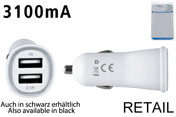 Dinic KFZ-Ladeadapter 2x USB
