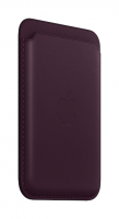 Apple iPhone Leder Wallet Dunkelkirsch