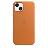Apple iPhone 13 Leder Case Goldbraun