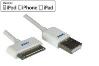 DINIC USB Kabel auf Dock für iPad, iPod und iPhone, 0,5 Meter