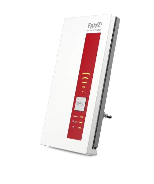 AVM FRITZ!WLAN Repeater 1750E - Wi-Fi-Range-Extender - 10Mb LAN, 100Mb LAN, GigE