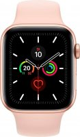 Apple Watch Series 4 GPS + Cellular, 40 mm Aluminium Gold, mit Sportloop in Sandrosa