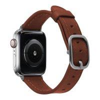 Devia Lederarmband für Apple Watch 42/44 mm Sattelbraun