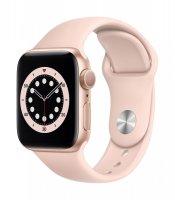 Apple Watch Series 6, GPS, 40 mm, Aluminium, Gold, Sportarmband Sandrosa