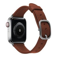 Devia Lederarmband für Apple Watch 38/40 mm Sattelbraun