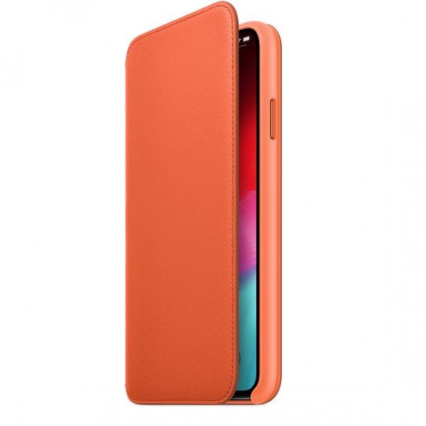 Apple Leder Folio iPhone XS Max, Abendsonne