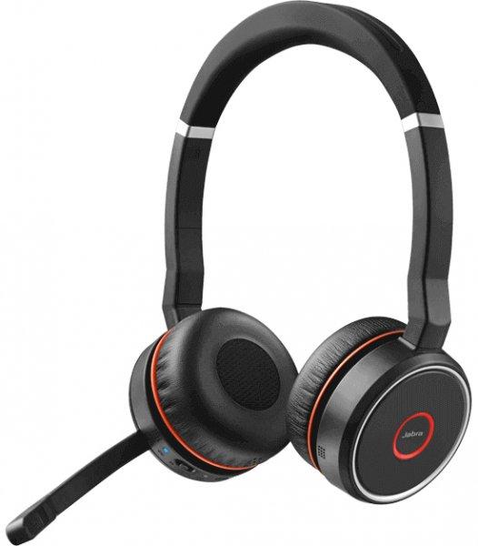 Jabra Evolve 75 UC, Wireless Headset, USB-A Dongle, Schwarz