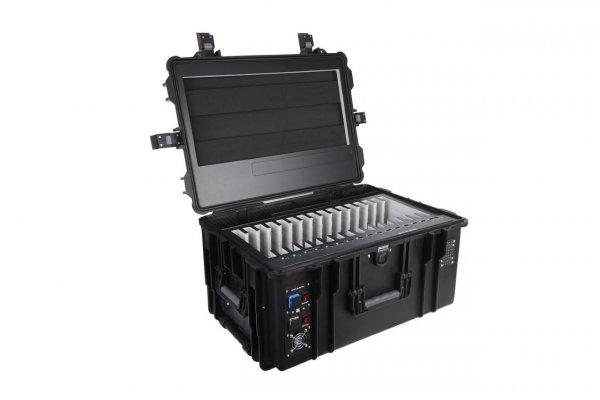 DEQSTER Tablet-Koffer KT16S Plus für 16 iPads oder Tablets mit integr. USB-Lademodul