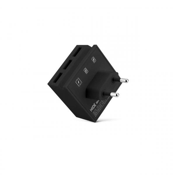 usbepower HIDE Mini 3-in-1 wall-charger, schwarz