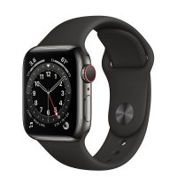 Apple Watch Series 6 Edelstahl Graphit