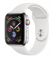 Apple Watch Series 4, GPS + Cellular, 44 mm, Edelstahlgehäuse, Silber