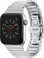 LAUT Link Watch Strap, Gliederarmband aus hochwertigem Edelstahl für Apple Watch 42/44 mm, Silber