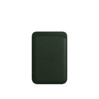 Apple iPhone Leder Wallet Schwarzgrün