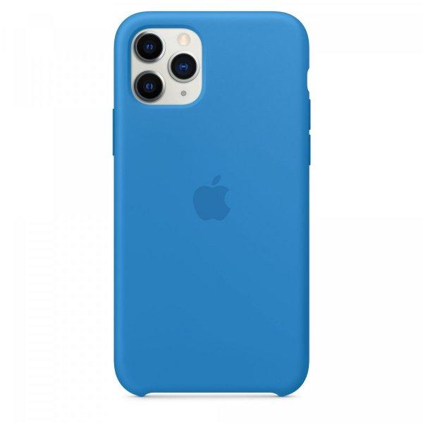 Apple iPhone 11 Pro Silikon Case, Surfblau