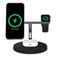 Belkin BOOST CHARGE PRO 3-in-1 QI Charger mit MagSafe Schwarz