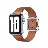 Apple Watch Modernes Lederarmband, 38/40mm, Sattelbraun, Small