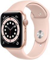 Apple Watch Series 6 Aluminium Gold, GPS, 44 mm, Sportarmband Sandrosa, Regular