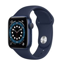 Apple Watch Series 6 Aluminiumgehäuse Blau, GPS, Sportarmband Dunkelmarine, Regular