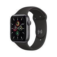 Apple Watch SE Aluminium Space Grau, 44 mm, GPS, Sportarmband Schwarz, Regular