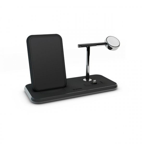 Zens Aluminium Stand + Apple Watch + Dock, Qi Charger, schwarz