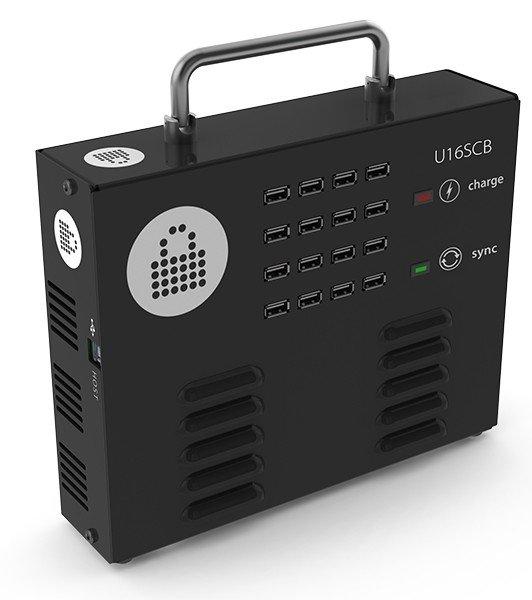 LocknCharge IQ 16 ChargeSync Box, Schwarz