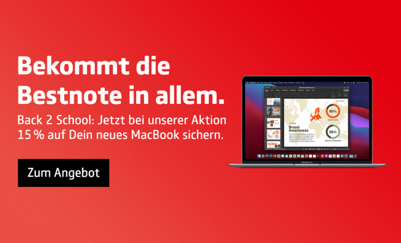 Spare auf Macs und iPad mit dem Studentenrabatt   COMSPOT
