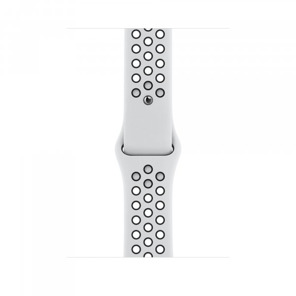 Apple Watch Nike Sportarmband, 38/40 mm, Pure Platinum/Schwarz